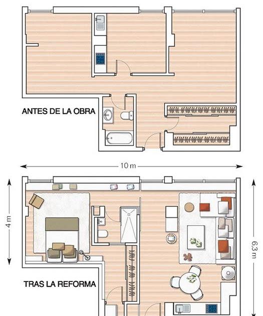 Una gran casa en apenas 55m2 tr s studio blog de - Proyectos de interiorismo online ...