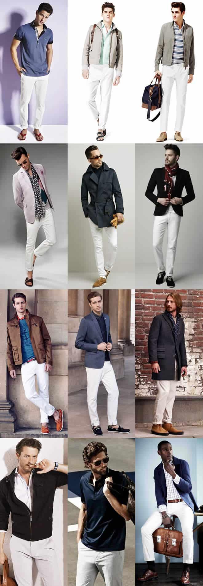 Men's White Jeans Lookbook