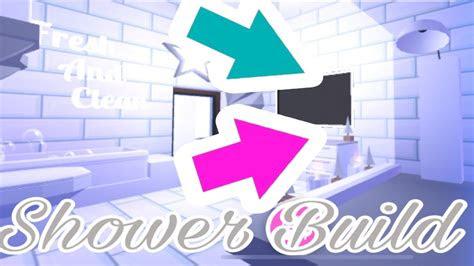 shower build hack bathroom speed build  adopt