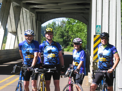 Us at the Larwood Covered Bridge