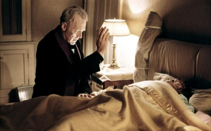 A scene from the 1973 film The Exorcist