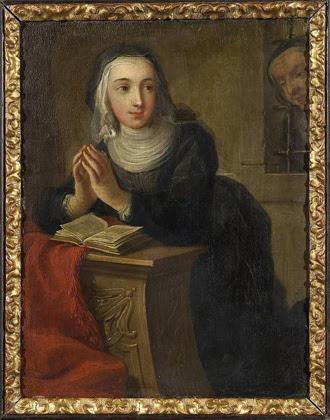 Kneeling Nun, verso, by Martin van Meytens, c1731