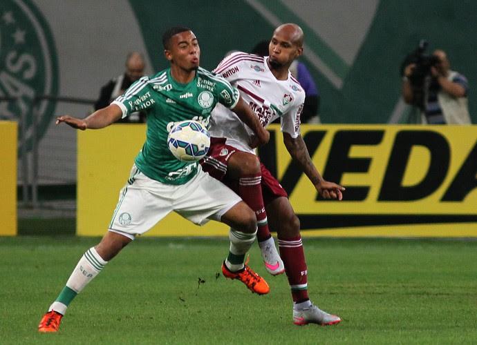 Wellington Silva e Gabriel Jesus - Palmeiras x Fluminense (Foto: Nelson Perez / Fluminense F.C.)