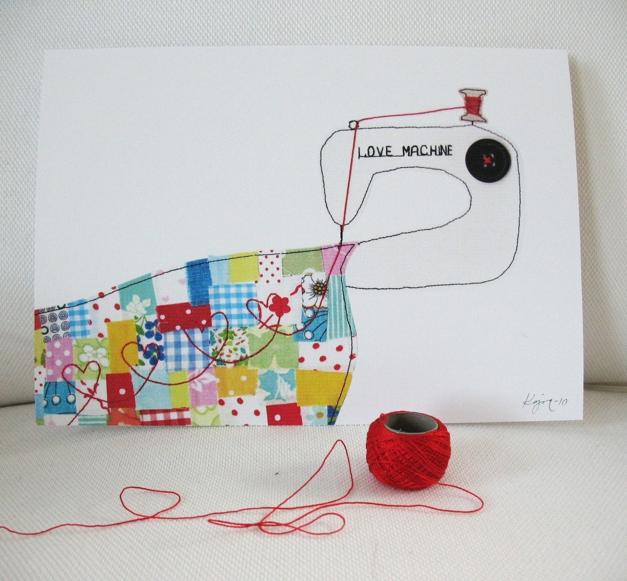 Love machine - art print