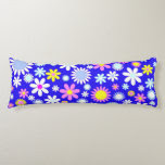Blue Flower Power Body Pillow