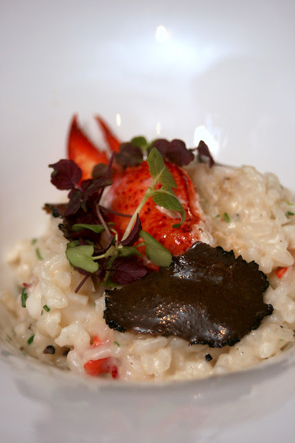 Truffled risotto with poached Maine lobster