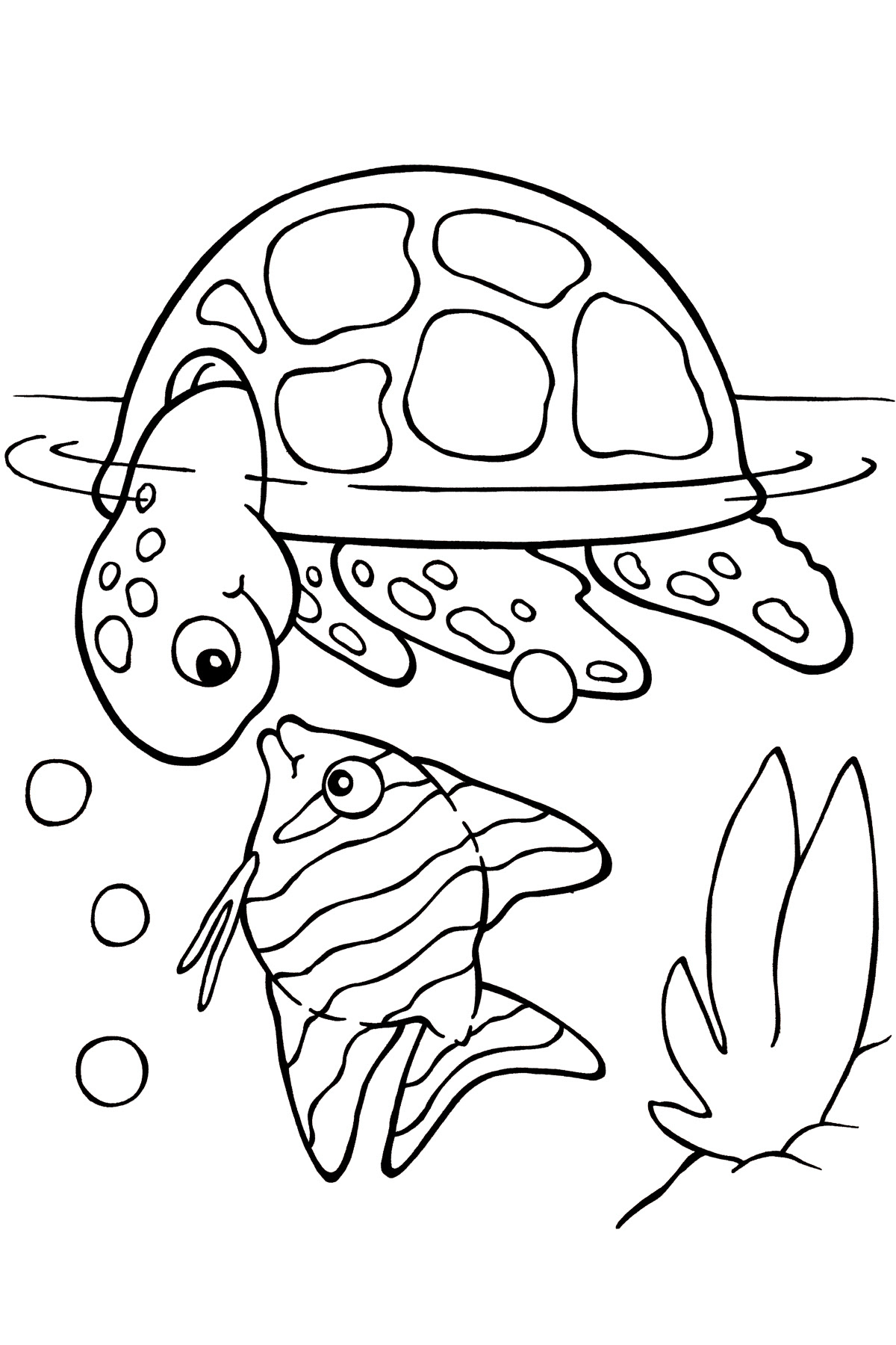 Sea fish coloring pages download and print for free