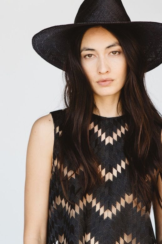 Le Fashion Blog Jenni Kayne Resort 2016 Black Hat Zig Zag Cut Out Sheer Top Via Style Com