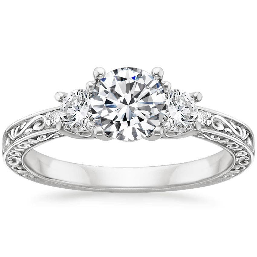 Expensive Ring For Newlyweds: Halo Filigree Engagement Rings