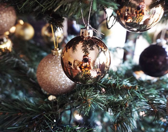 Gold, Copper & Silver Christmas Tree