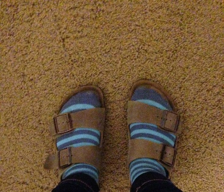 Stripped socks with Birkenstocks | Closet | Pinterest - sock
