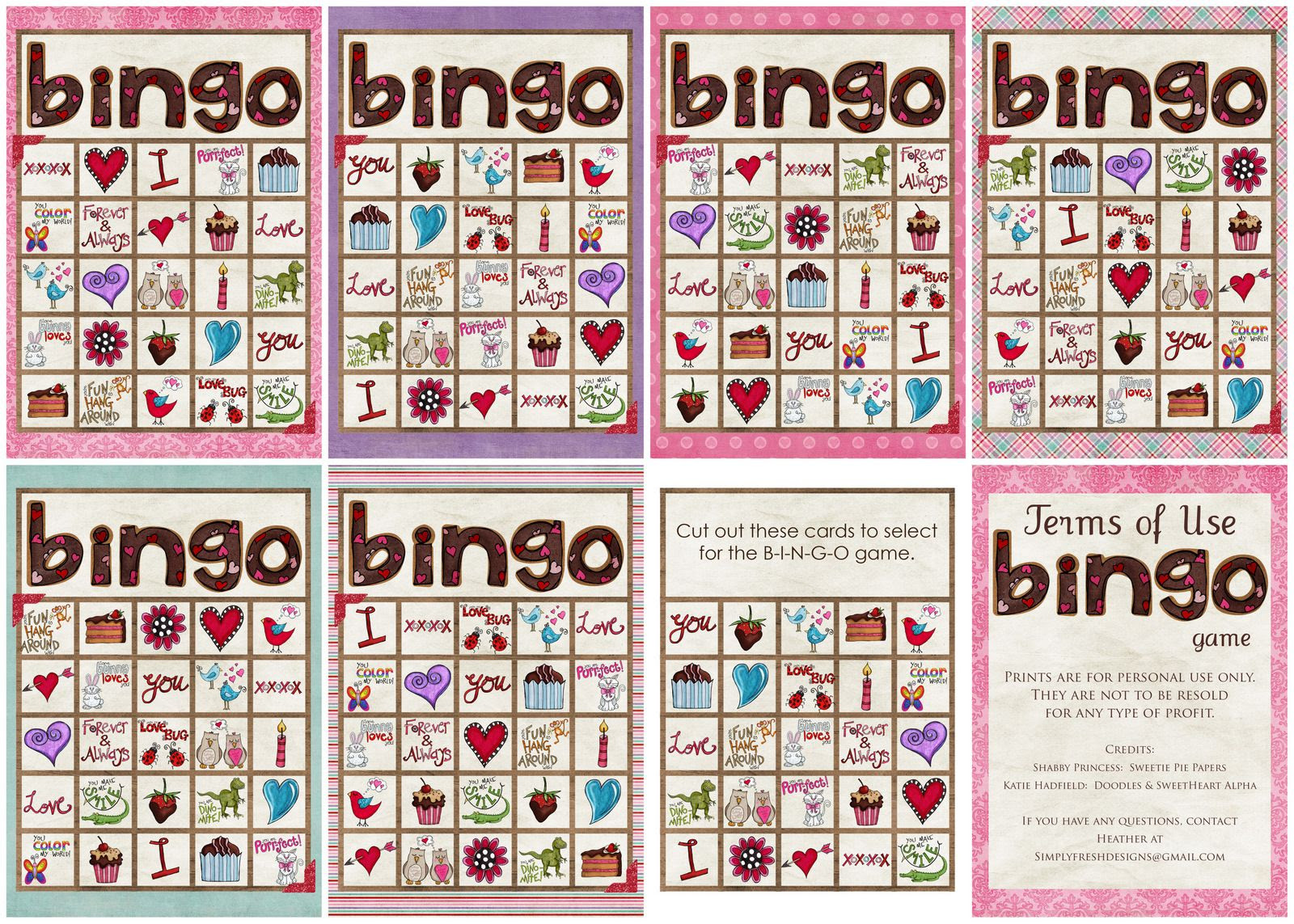 1000+ images about Printable Bingo Card &Tickets on Pinterest ...