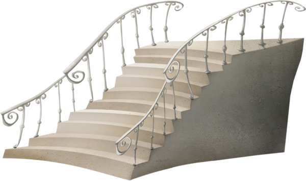 esacalier -stairs - Treppe - rampe fer forgé