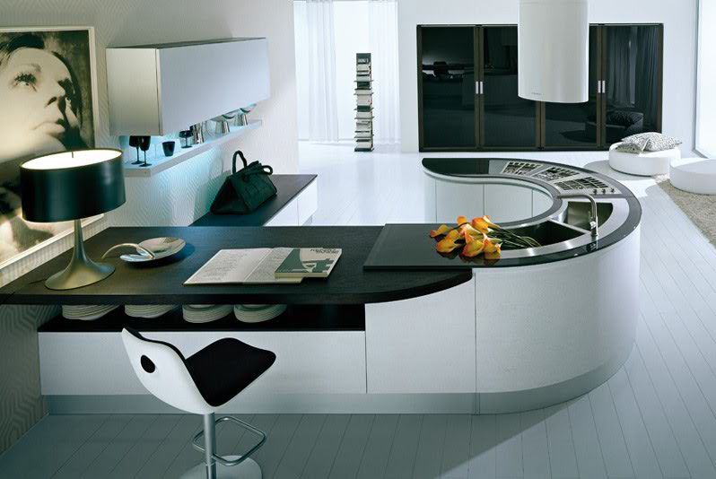 Pedini Kitchens With Rounded Countertops | DigsDigs