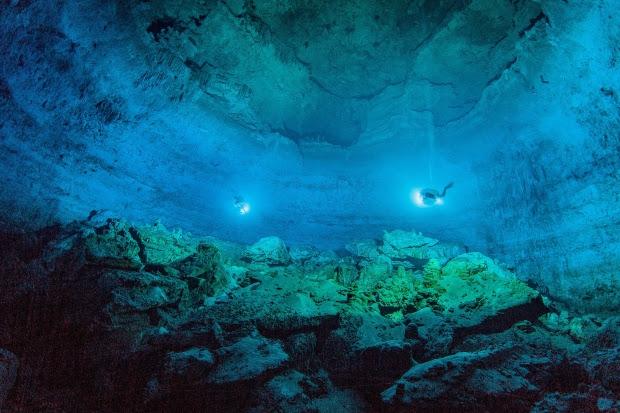 Hoyo Negro, an underwater cave in Mexico's Yucatan