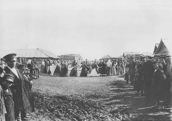 Festival in a Siberian village, c. 1900