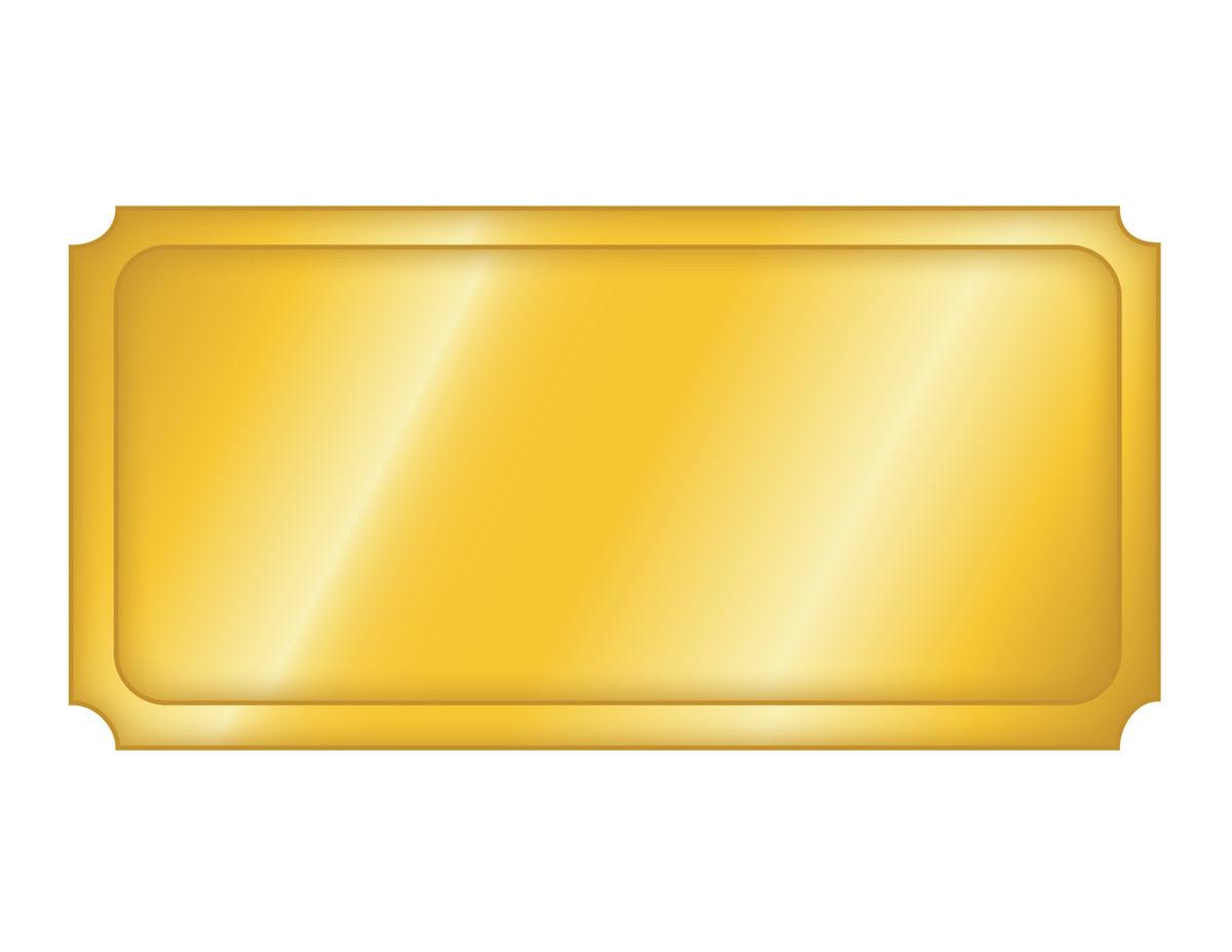 Blank Golden Ticket