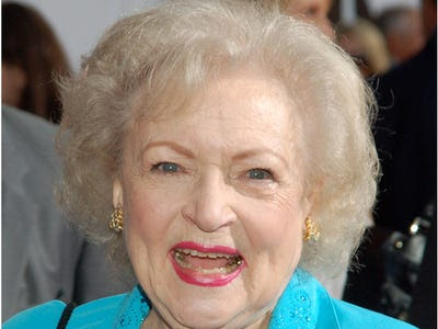 BEST ACTRESS (TV COMEDY): Betty White -- Hot in Cleveland