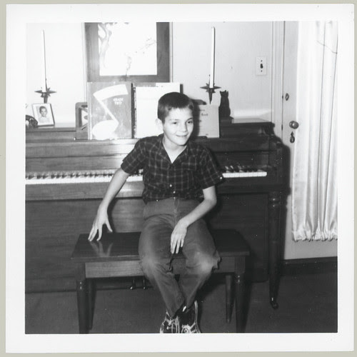 Boy at piano