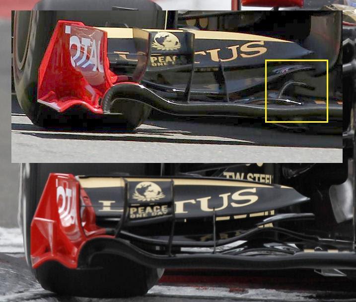 Lotus Renault R31 - Modiche tecniche Gp. Nurborgring