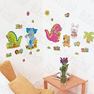 Amazon.com: [Animal Party] Decorative Wall Stickers Appliques ...