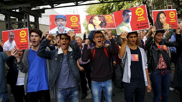 Manifestation à Ankara, en Turquie