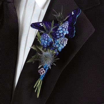 Blue Boutonnieres for Proms or Weddings