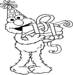 Elmo Coloring Pages... | Baby's 2nd Birthday | Pinterest