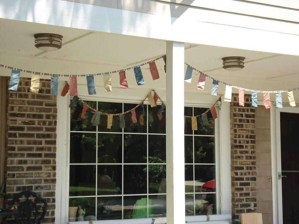 homemade flags finally up!