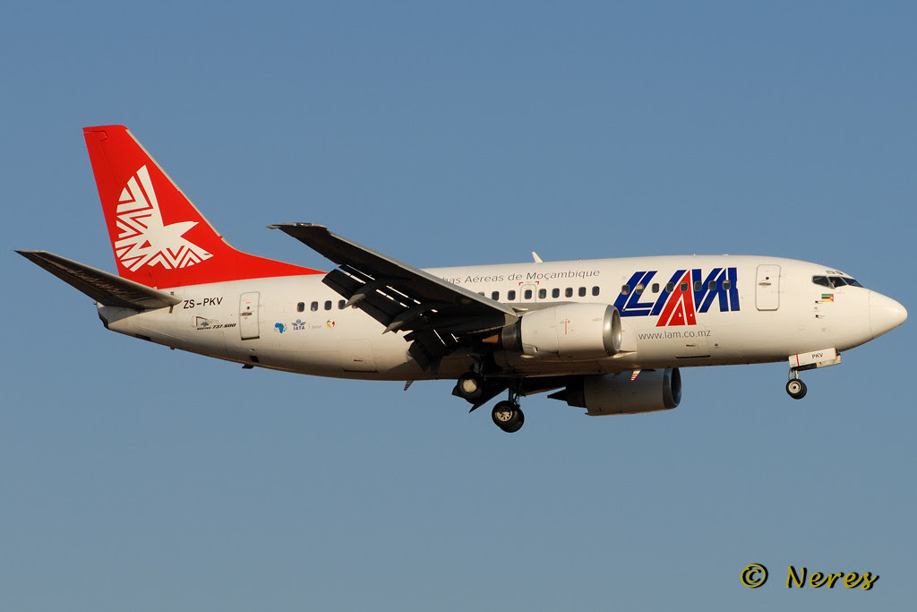 LAM Mozambique's likely Boeing 737-500