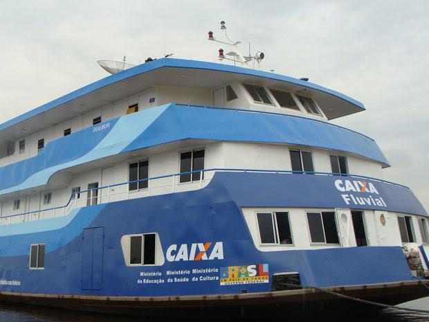 Agência-barco da Caixa