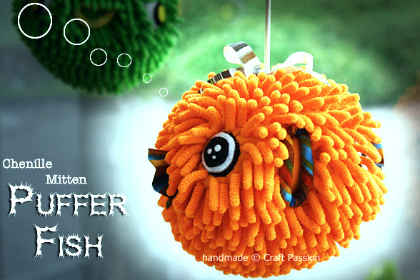 Sewing Tutorial: Make Puffer Fish From Chenille Mitten