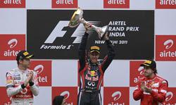 Alonso sube al podio en la India el día que Vettel se volvió a reir de todos