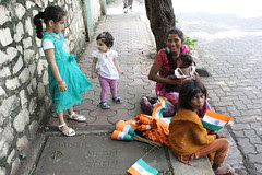 The Flag Sellers Meet My Grandchildren on 15 August 2012 Our Independence Day by firoze shakir photographerno1