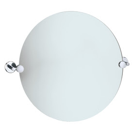 "Gatco 19-1/2""H x 19-1/2""W Latitude 2 Round Frameless Bath Mirror with Beveled Edges"