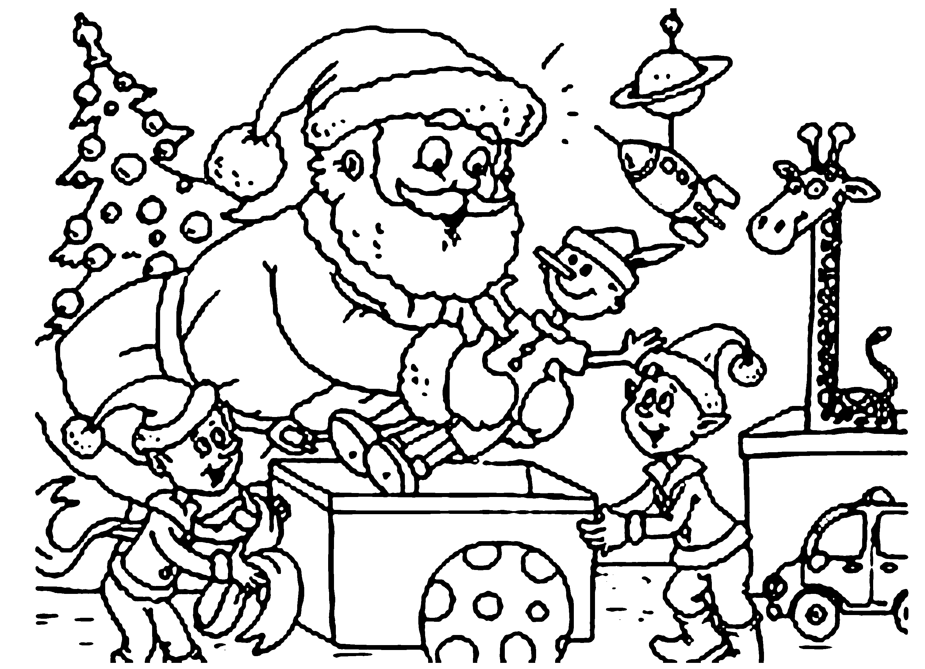 Free Elf Coloring Pages For Kids Drawing With Crayons