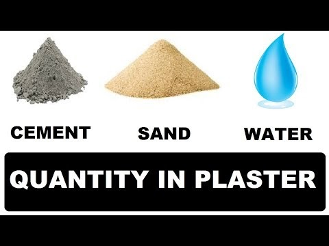 How To Calculate Quantity of Cement Sand Water in Plaster work at Site | Learning Technology