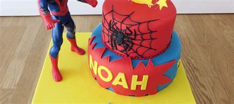 2 Tier Spider Man Cake   The Cakery Leamington Spa