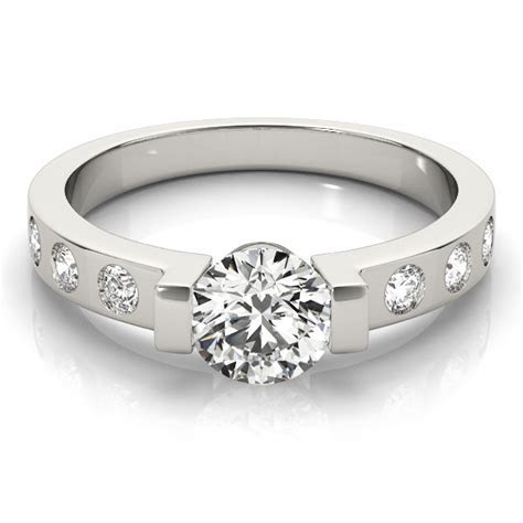 Low Profile   Engagement Rings from MDC Diamonds NYC