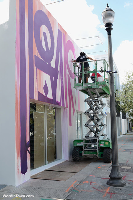 Retna Working At The New Louis Vuitton Miami Design District