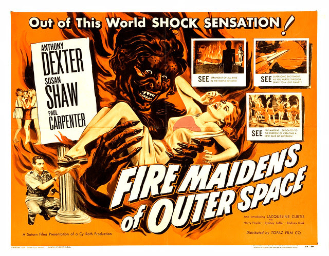 Albert Kallis - Fire Maidens of Outer Space (Topaz, 1956) Half Sheet