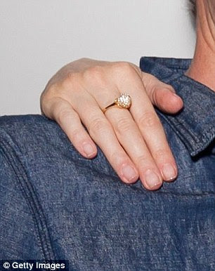 Wedding ring on the middle finger