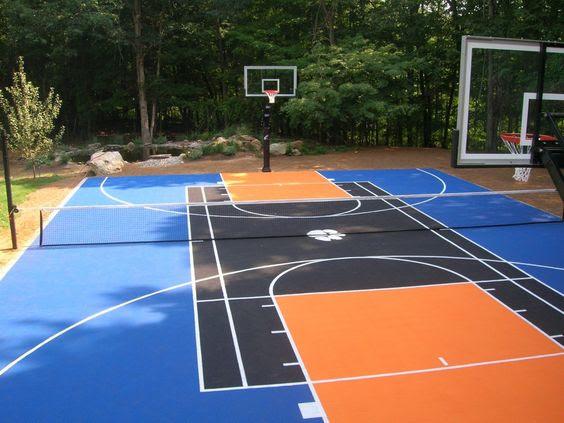 backyard basketball court ideas 1