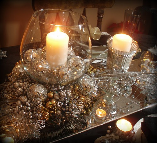 Disco Ball Table Decorations: Dining Delight: New Year's Eve Tablescape