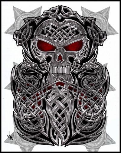 Skull Tattoo Half Sleeve Designs