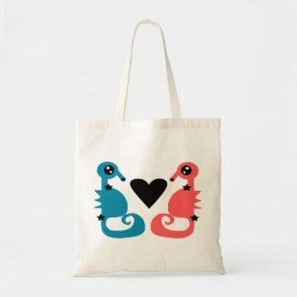 Divine Seahorses in love Tote Bags