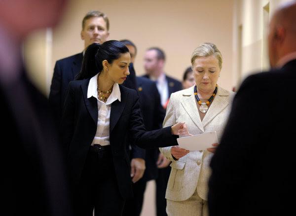 Huma Abedin, left, a longtime confidante of Hillary Rodham Clinton.
