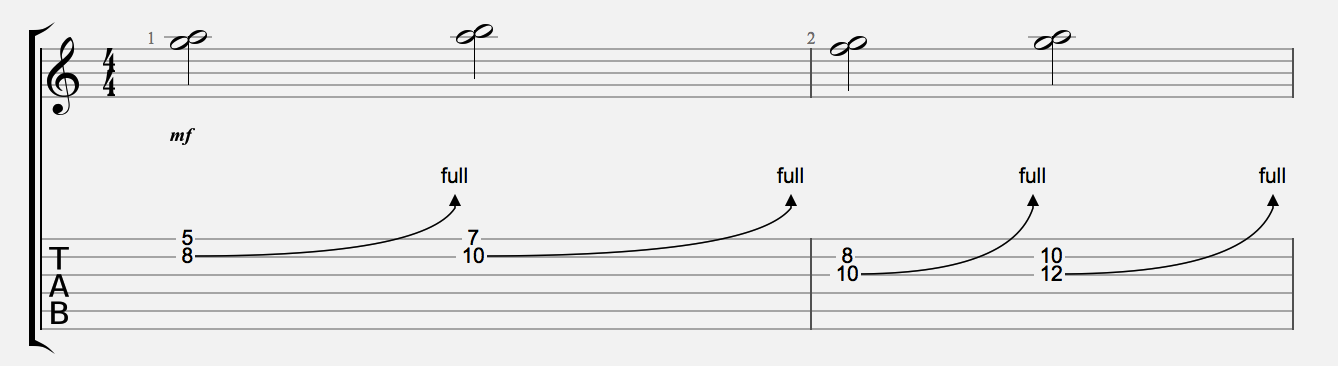 UNISON BEND EXAMPLES