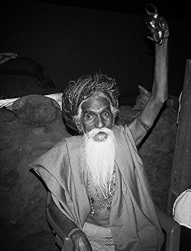 Naga Sadhu With Raised Arm at Haji Malang by firoze shakir photographerno1