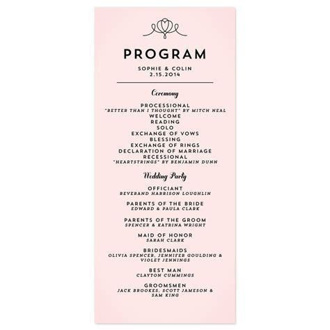 modern wedding program wording   Google Search   Wedding